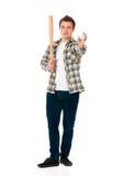 Man with baseball bat Stock Photos