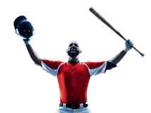 Man baseball player silhouette isolated Stock Photography