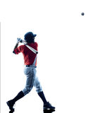 Man baseball player silhouette isolated Royalty Free Stock Photos