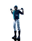 Man baseball player silhouette isolated Stock Image
