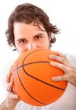 Man with a basketball Royalty Free Stock Photography