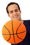 Man with a basketball Stock Images