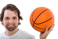 Man with a basketball Royalty Free Stock Images