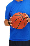 Man with basketball - torso Stock Image
