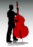 Man and bass Royalty Free Stock Photo
