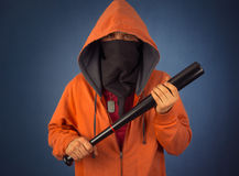 Man with bat Stock Images