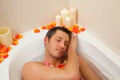 Man bath Stock Image