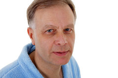 Man in bath robe Royalty Free Stock Photos