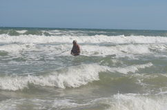 Man bathing Royalty Free Stock Photo
