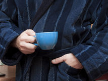 Man  in bathrobe Royalty Free Stock Photo
