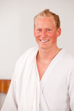 Man in Bathrobe Royalty Free Stock Photo