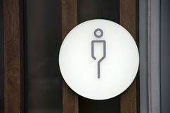 Man bathroom sign, toilet gentleman Royalty Free Stock Photography