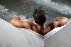 Man in Bathtub Royalty Free Stock Photos