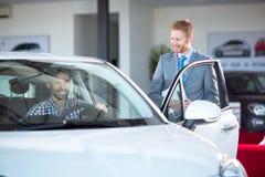 Man baying car Royalty Free Stock Photo