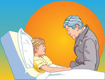 Man about be sick child. There are man about be sick child Royalty Free Stock Image