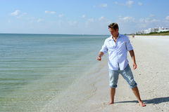 Man on Beach Royalty Free Stock Photos