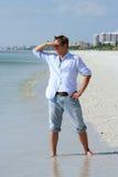 Man on Beach Royalty Free Stock Photography