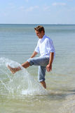 Man on Beach Stock Photography