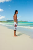 Man on beach stock images