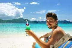Man on a beach Royalty Free Stock Photo