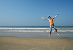 Man on the beach Royalty Free Stock Photos