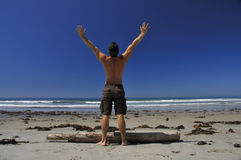 Man on beach Royalty Free Stock Image
