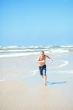 Man on the beach Royalty Free Stock Images