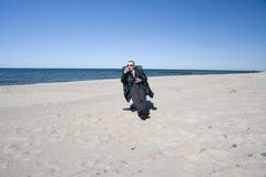 Man on Beach Royalty Free Stock Images