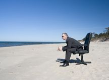 Man on Beach royalty free stock photo