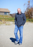 Man at beach Stock Photography
