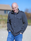 Man at beach Royalty Free Stock Images
