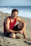 Man beach Stock Photo