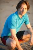 Man beach Stock Images