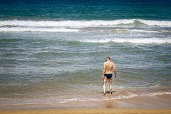 Man at the beach Royalty Free Stock Photo