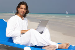 Man on the Beach Royalty Free Stock Photography