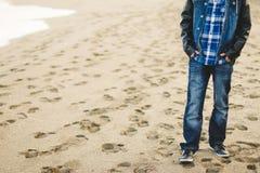 Man on beach Stock Image