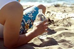 A man on the beach Stock Photography