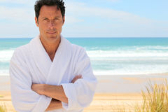Man on the beach Royalty Free Stock Image