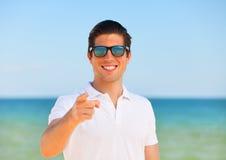 Man at the beach Royalty Free Stock Image