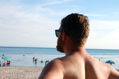 Man on a Beach Stock Image