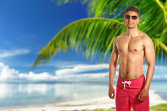 Man on beach at Philippines Royalty Free Stock Photos