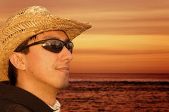 Man by the beach - portrait Royalty Free Stock Photo