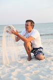 Man on the beach Stock Photos