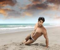 Man on beach sexy Royalty Free Stock Photos