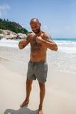 Man on the beach Stock Image