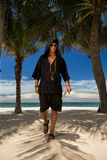 Man At Beach royalty free stock photography