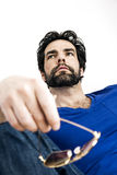 Man with beard. An image of a handsome man with a beard relaxing Royalty Free Stock Photography