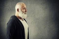 Man with beard with empty copyspace Royalty Free Stock Image