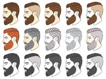 Man with beard, hipster. Vector illustration Stock Photography