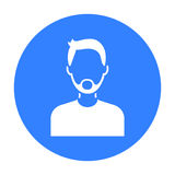 Man with beard icon black. Single avatar,people icon from the big avatar black. Royalty Free Stock Image